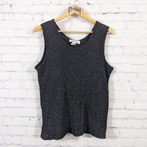 💎 Agenda Crinkle Stretch Tank Black 18/20